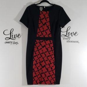 Anne Klein red and black dress  - 186